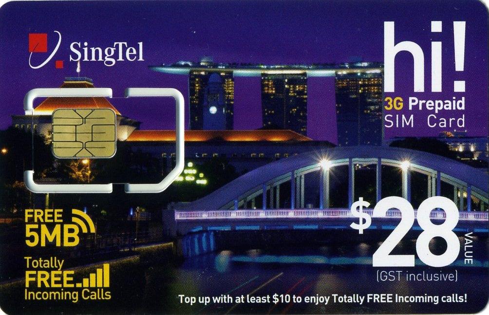 SingTel 3G Prepaid SIM