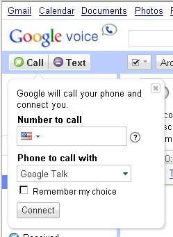 Google Voice Call