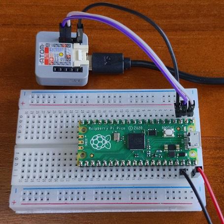 Double Pico ! ATOM Lite as a Serial Converter to Pi Pico