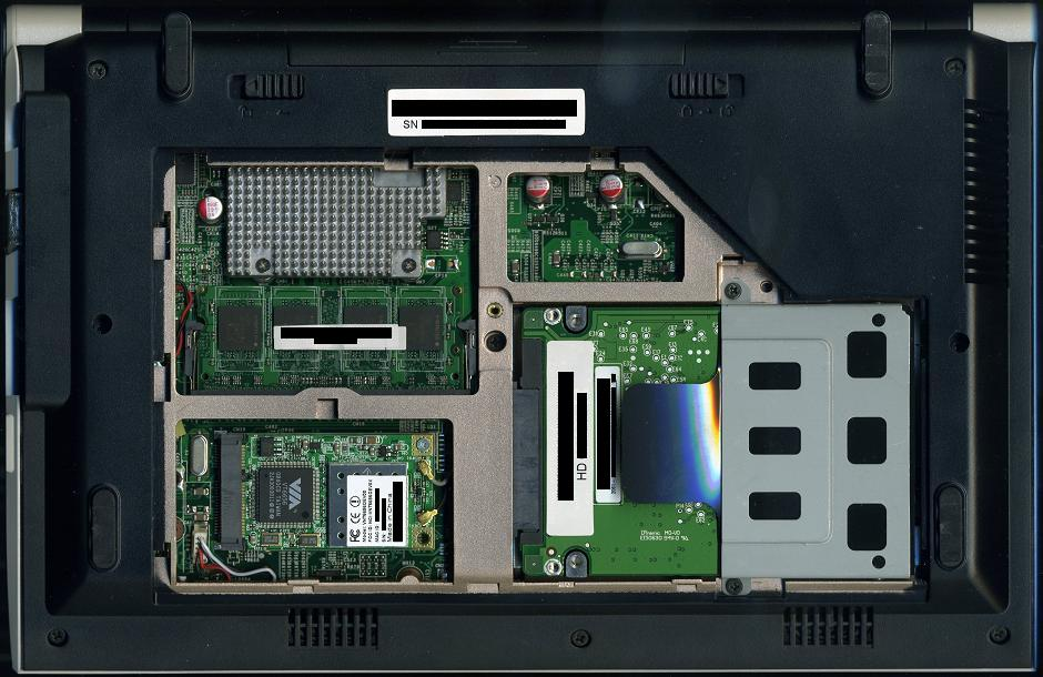 Olevia X10A back panel